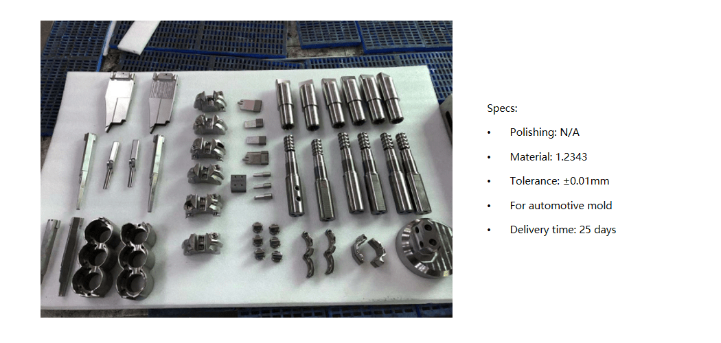 injection mold component processing