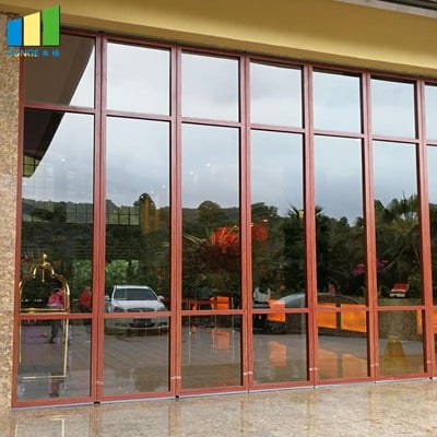 BG85 office glass partition wall