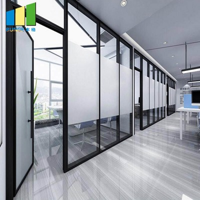 BG80 office glass partition wall