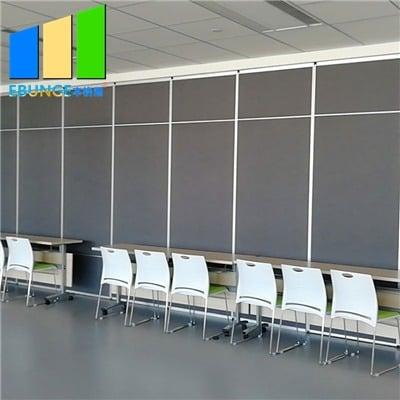 Acoustic sliding folding partition