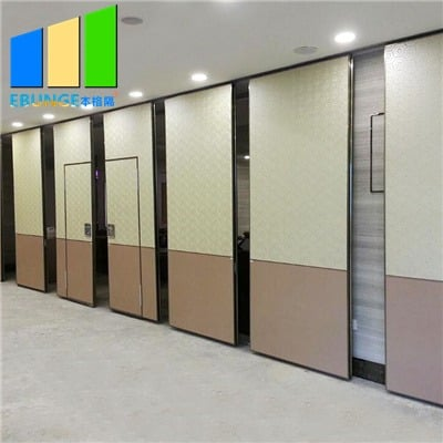 Soundproof sliding folding wall partition