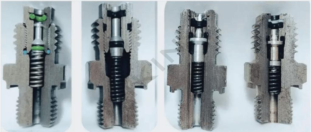 cấu trúc bên trong của khớp nối thử nghiệm máy ép con dấu bi