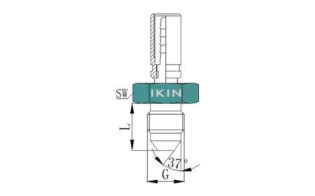 Phụ kiện đầu nối ống, JIC 37 °, với chủ đề nam