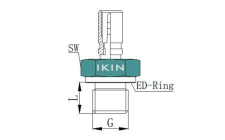 Hydraulic Hose Fitting, with Male Thread, SD