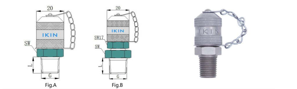 hydraulic test point adaptor, with stud