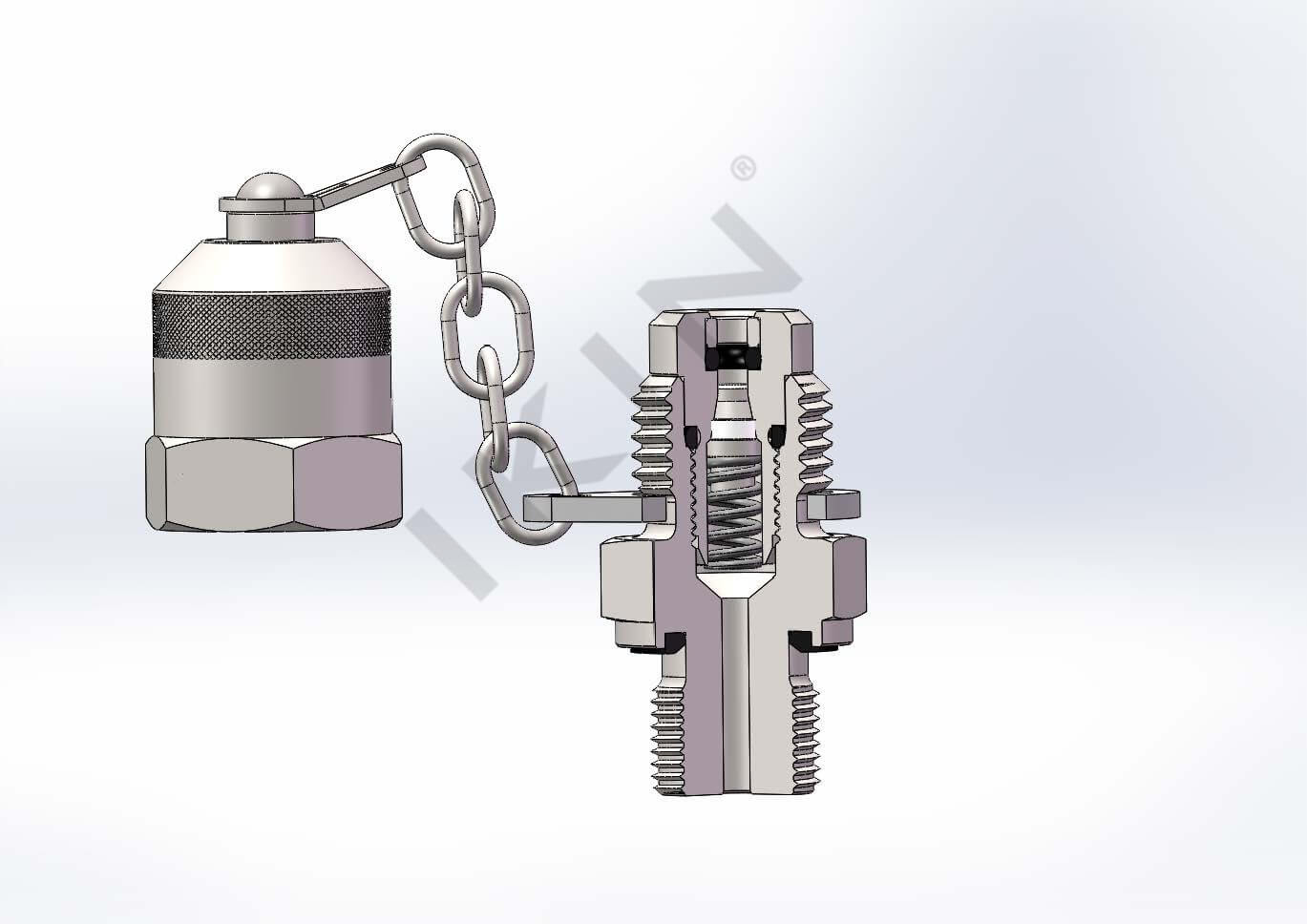 IKINFLUID油圧テストポイントカップリング